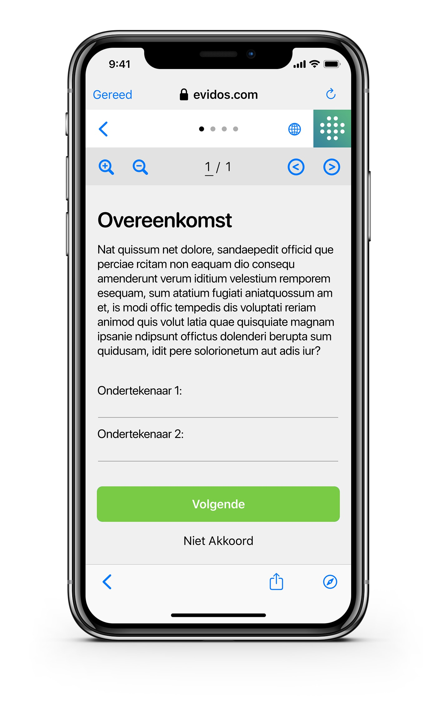 Ondertekenen - NL - stap 1