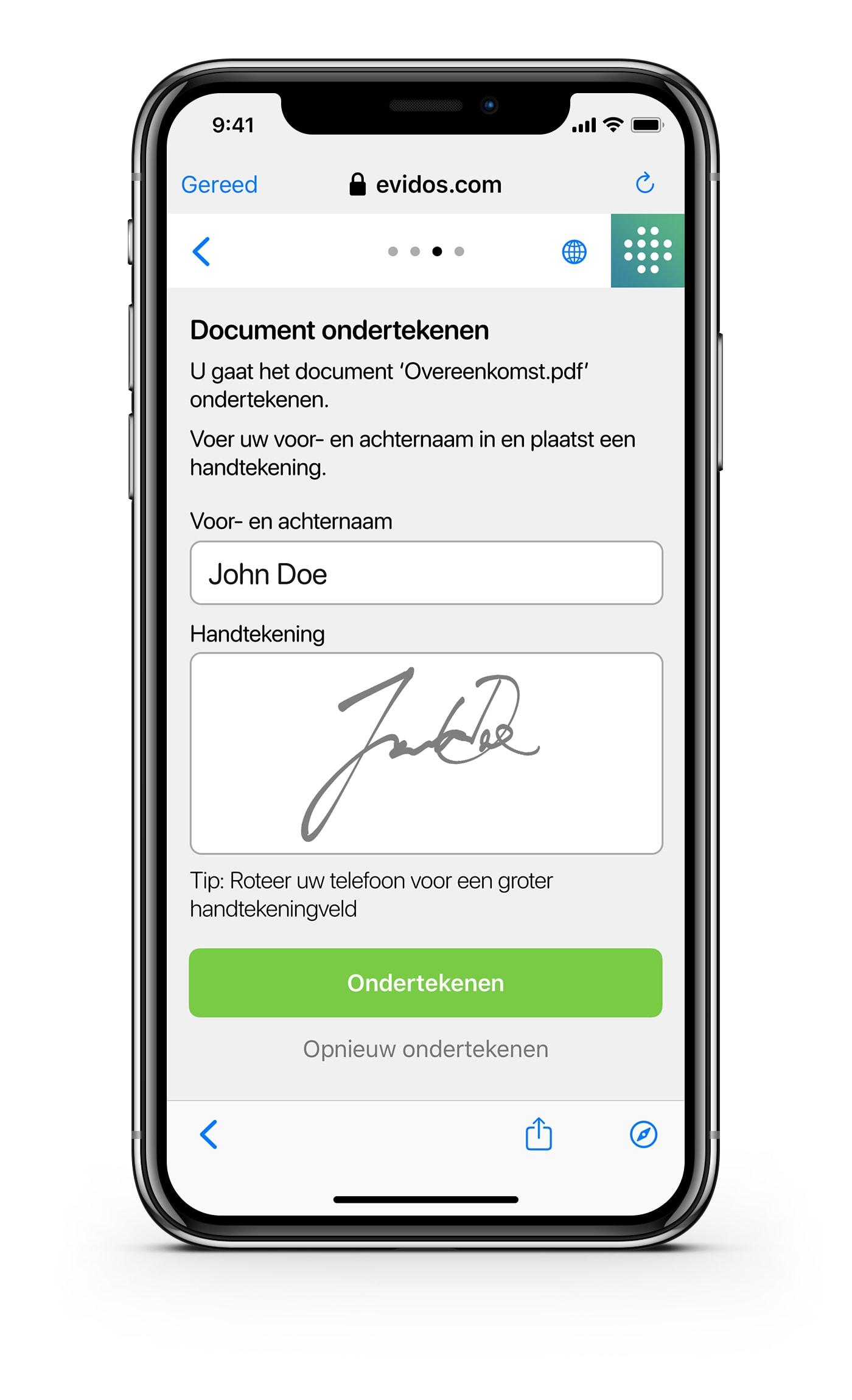 Ondertekenen - NL - stap 3